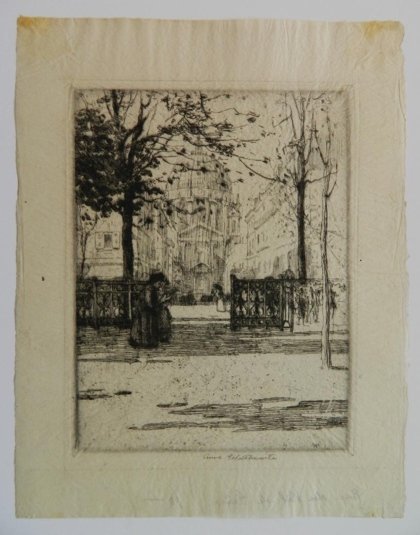 Ann Goldthwaite 3 etchings - 2