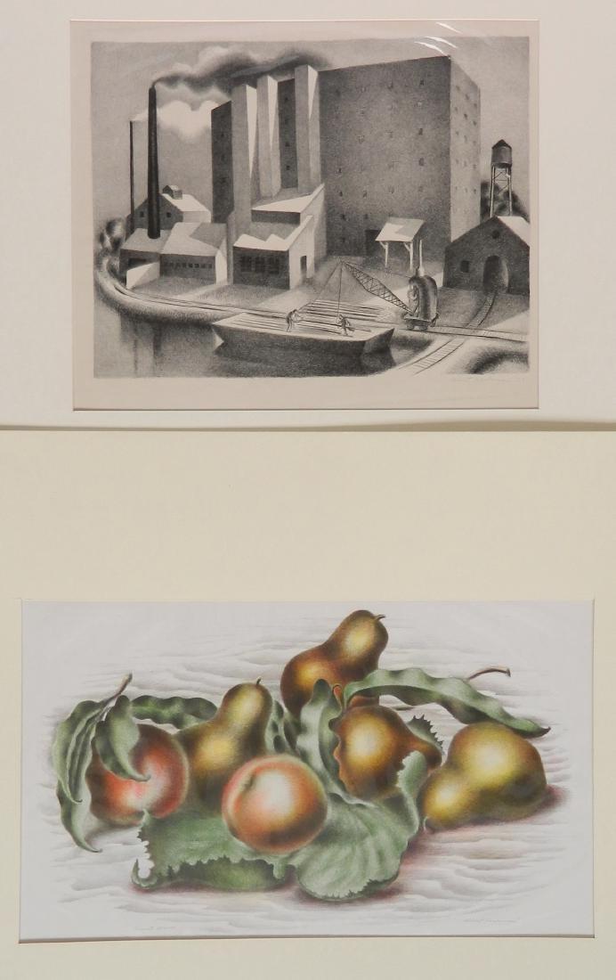 Albert Heckman 2 lithographs