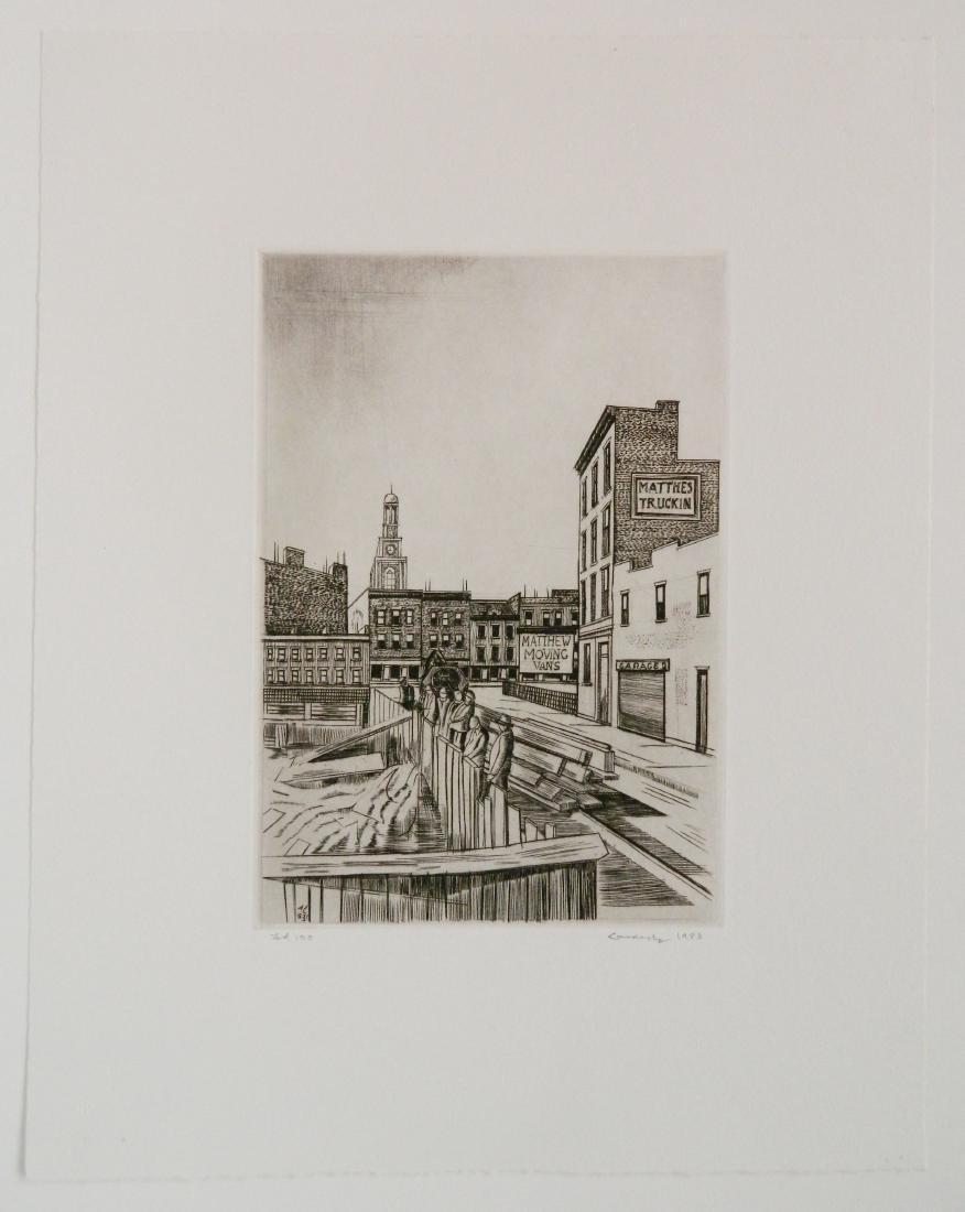 Armin Landeck etching - 2
