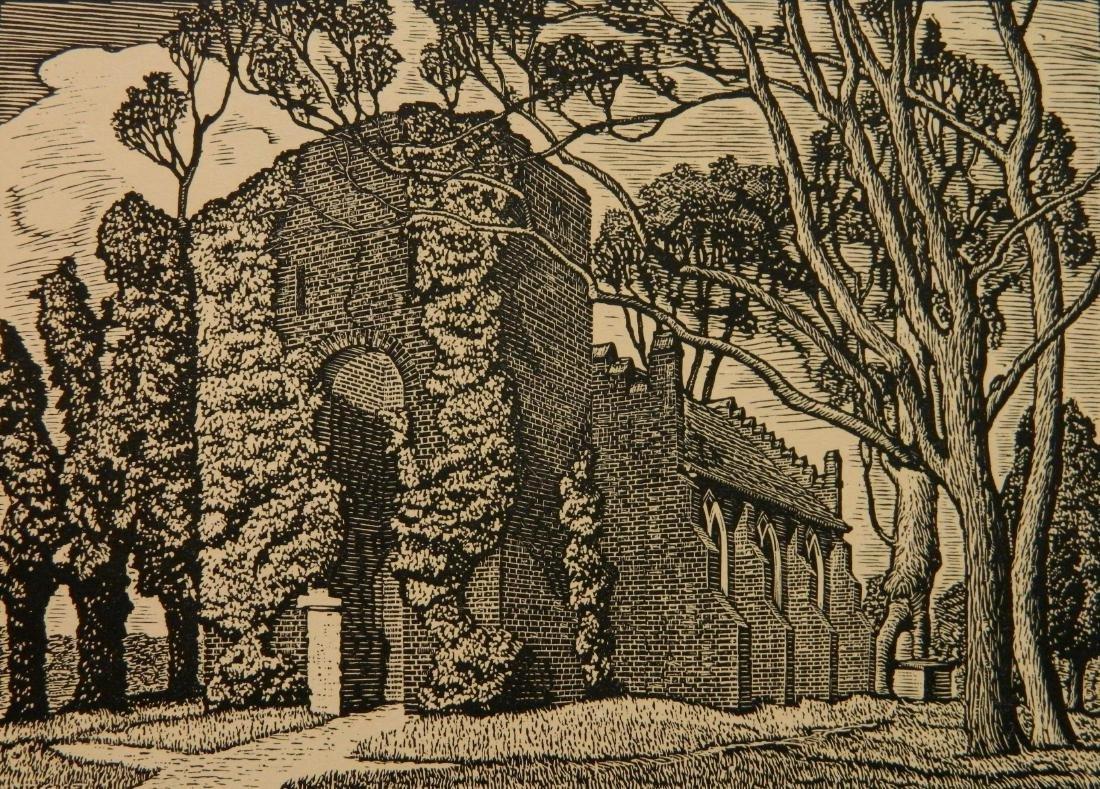 Julius J. Lankes 2 wood engravings - 2