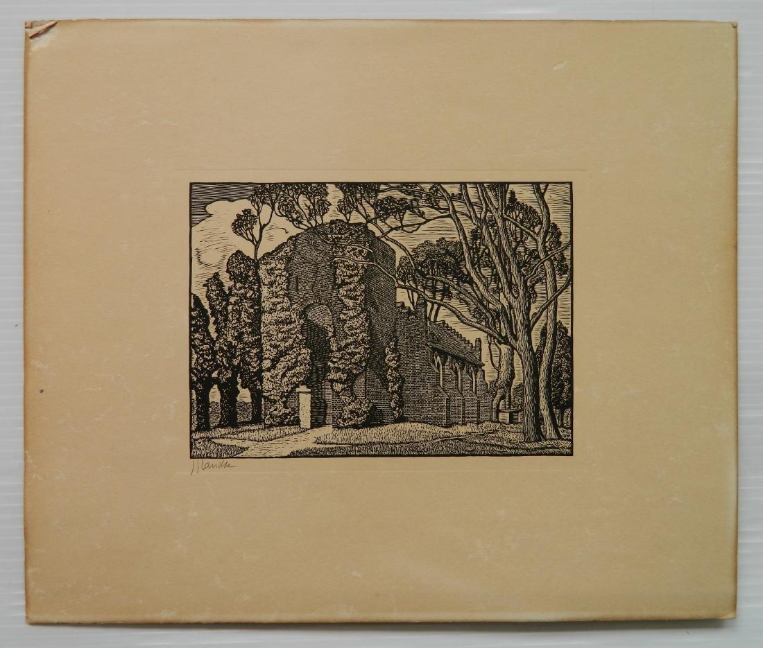 Julius J. Lankes 2 wood engravings - 3