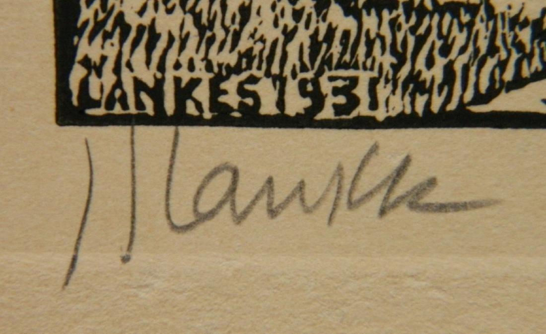 Julius J. Lankes 2 wood engravings - 4