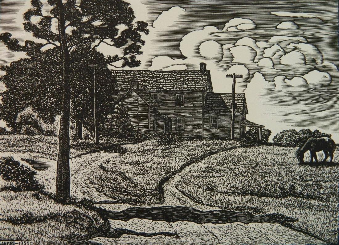 Julius J. Lankes 2 wood engravings - 6