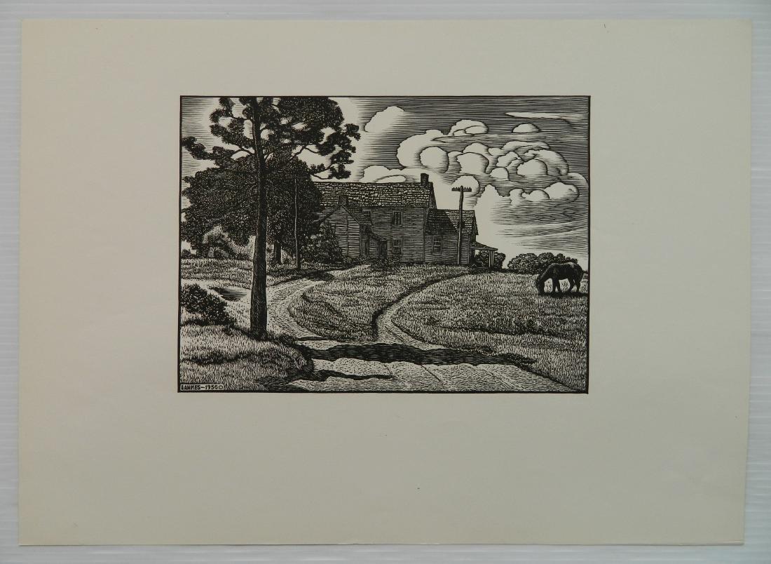 Julius J. Lankes 2 wood engravings - 7