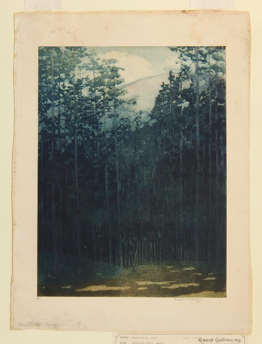 Beatrice S. Levy aquatint - 2