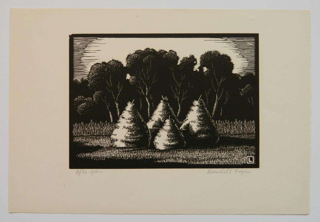 Herschel C. Logan block print - 2