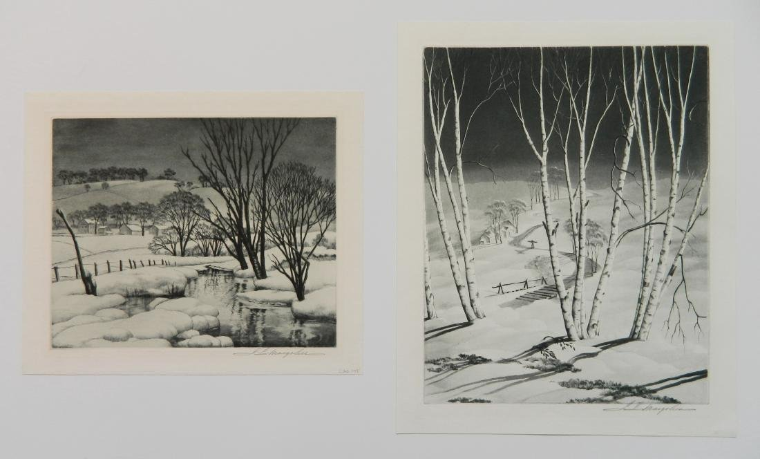 Samuel Margolies 2 etchings