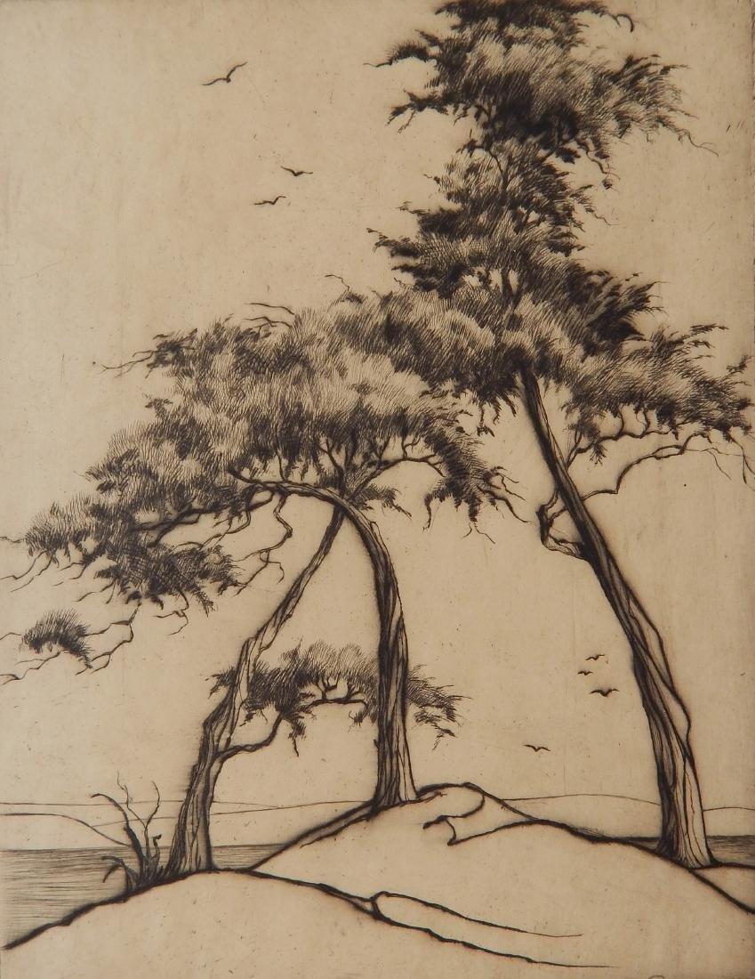 James Swann drypoint
