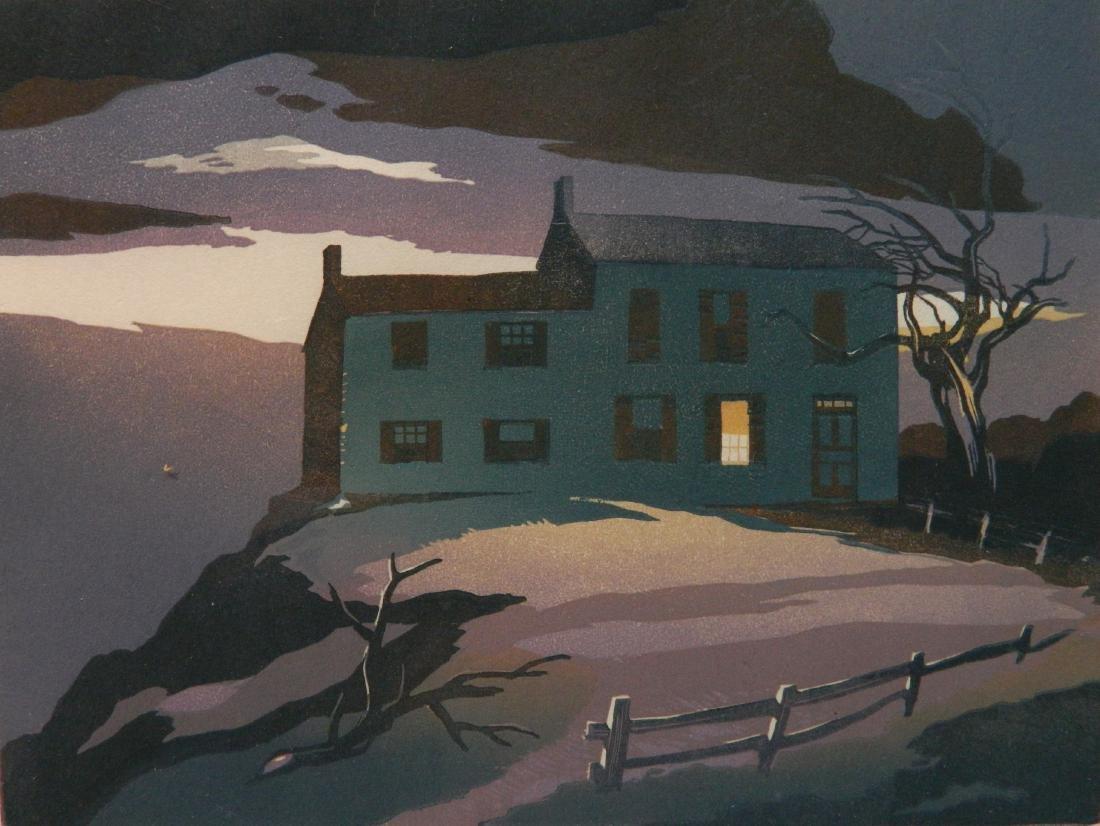 Ernest Watson woodcut