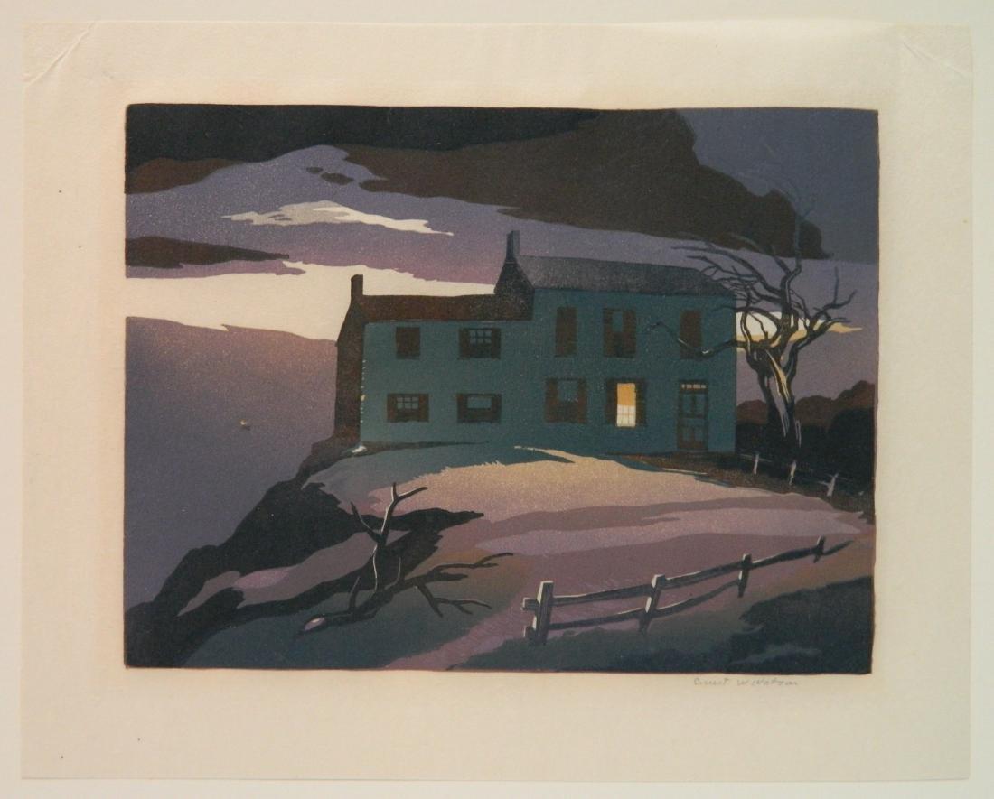 Ernest Watson woodcut - 2