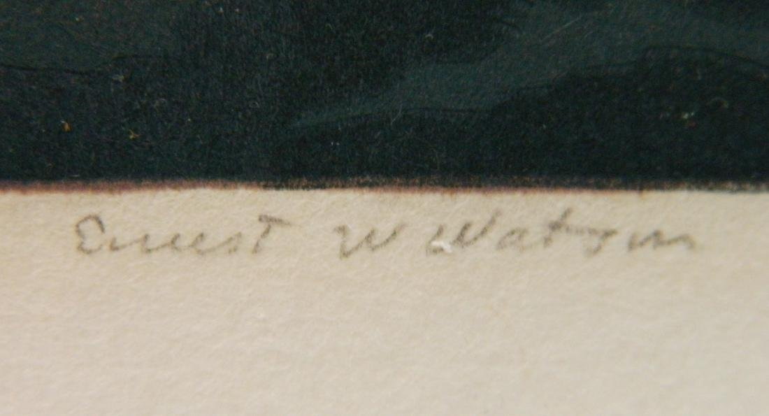 Ernest Watson woodcut - 3