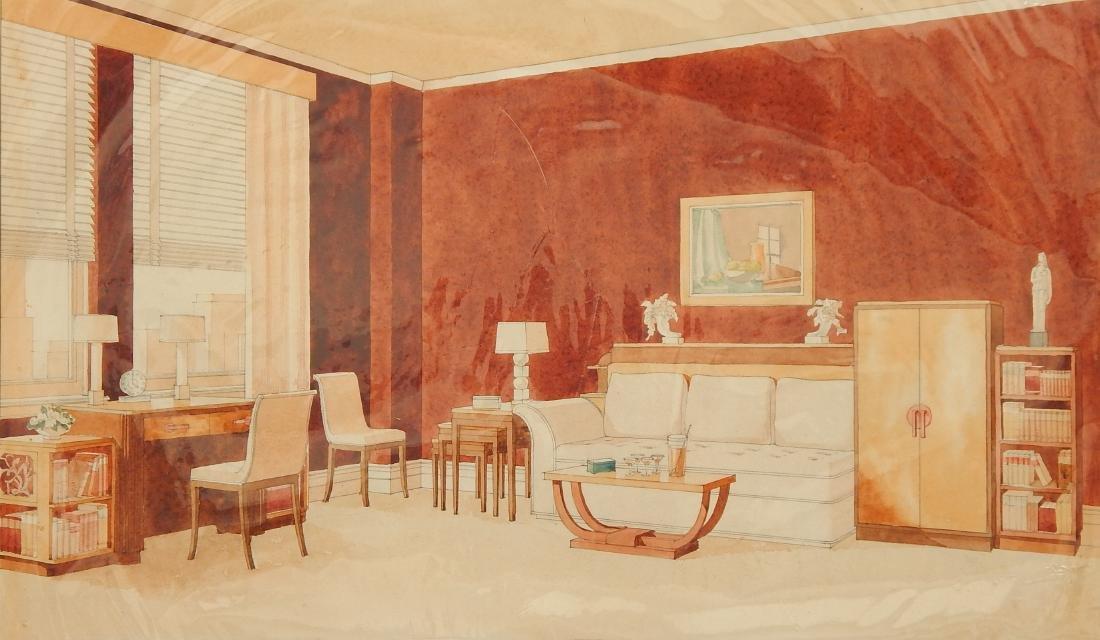 John B. Wisner watercolor and graphite