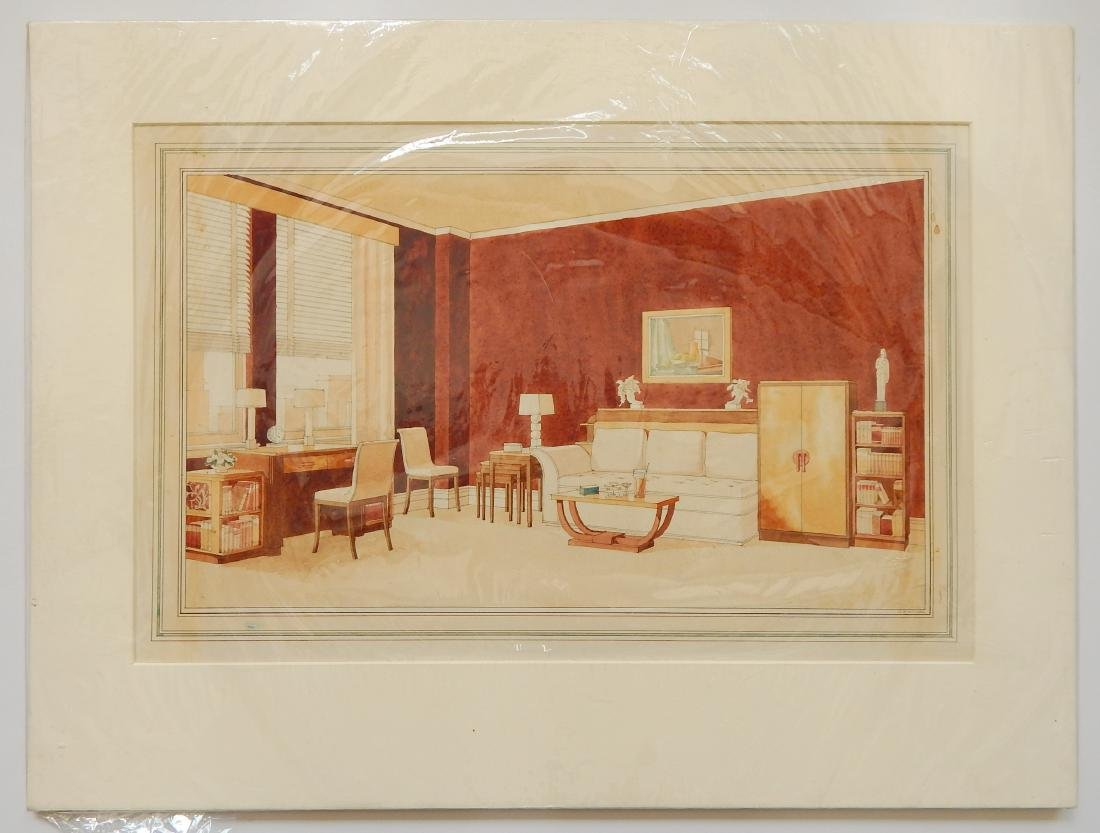 John B. Wisner watercolor and graphite - 2