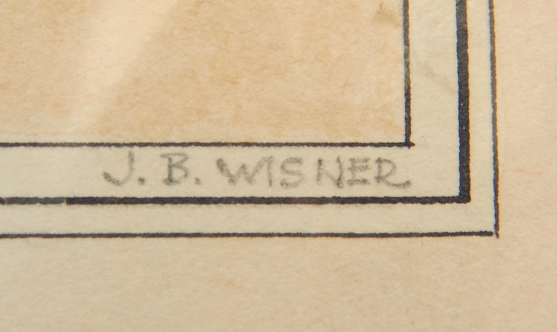 John B. Wisner watercolor and graphite - 3