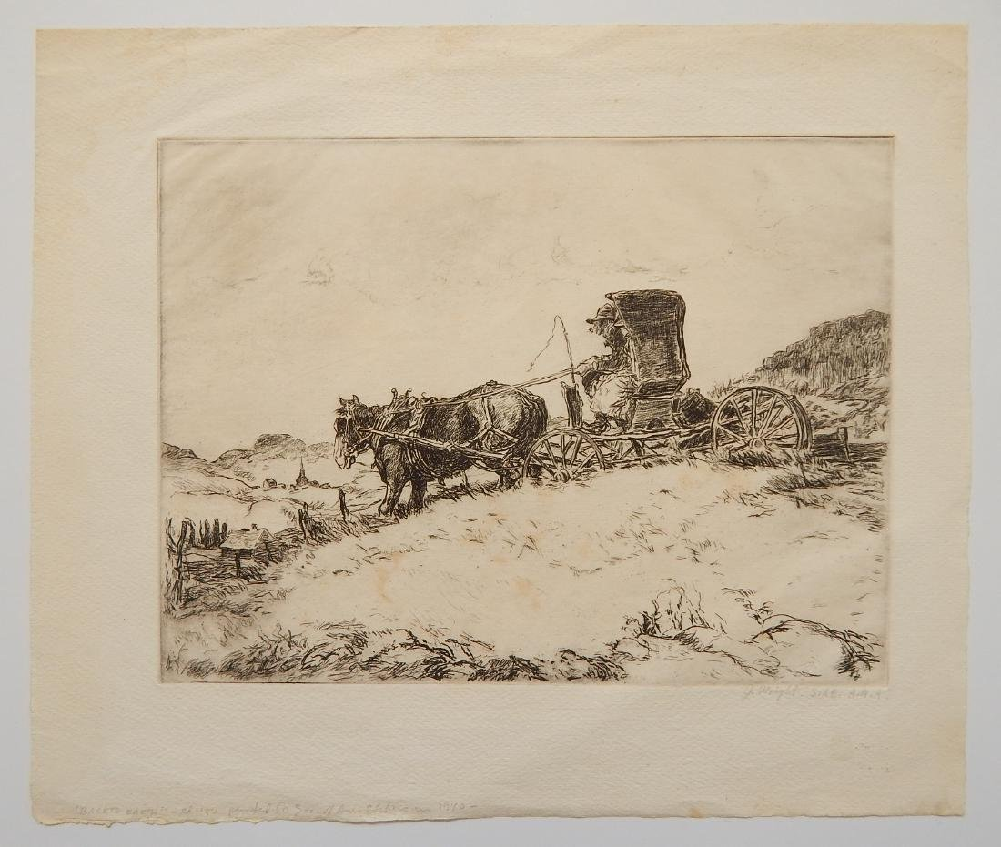 George Wright 3 etchings - 2