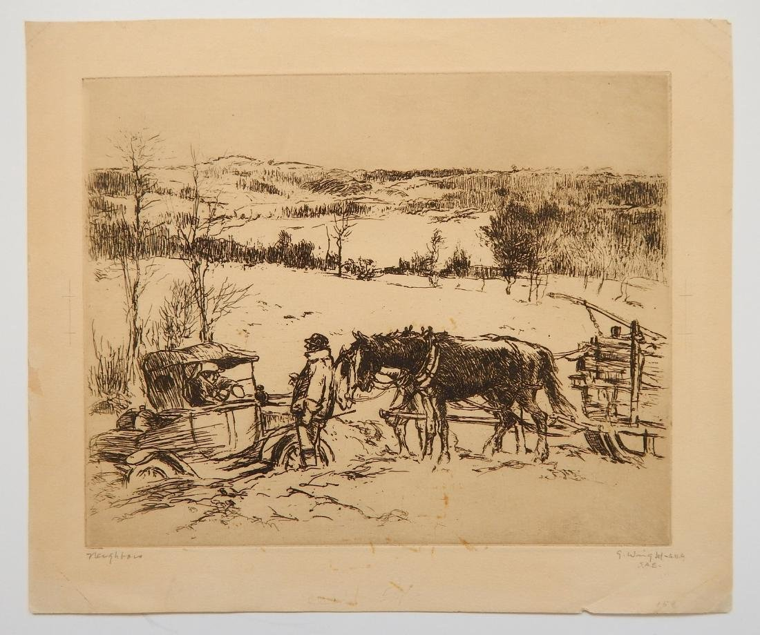 George Wright 3 etchings - 5