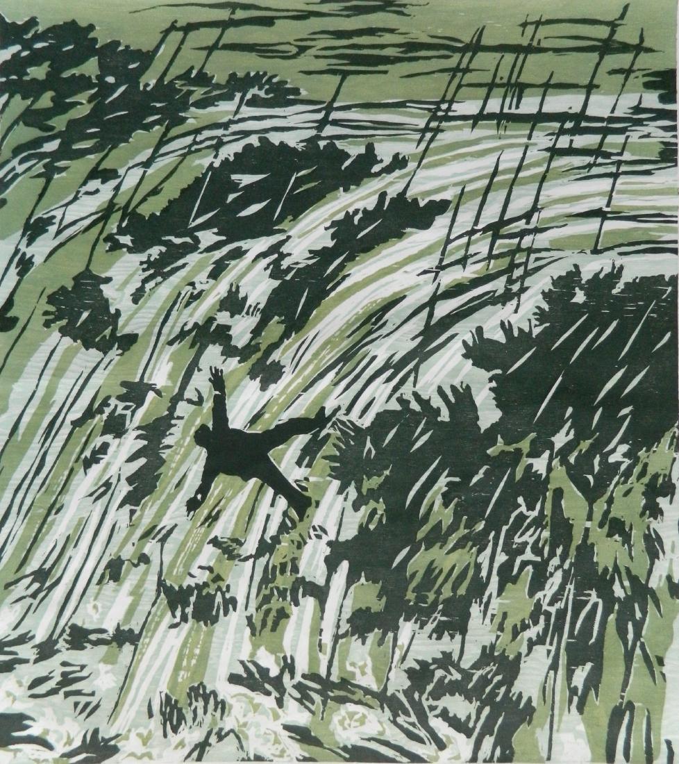 Richard Bosman woodcut