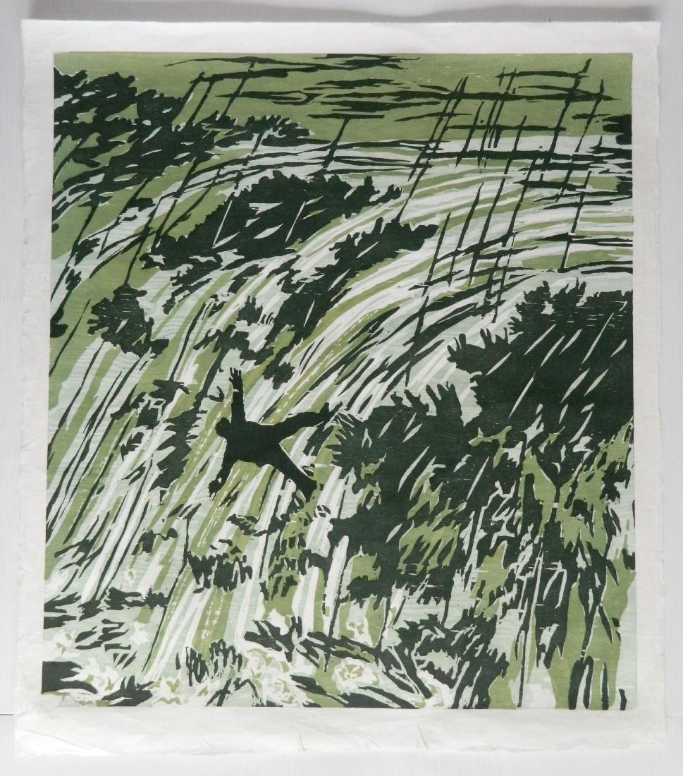 Richard Bosman woodcut - 2