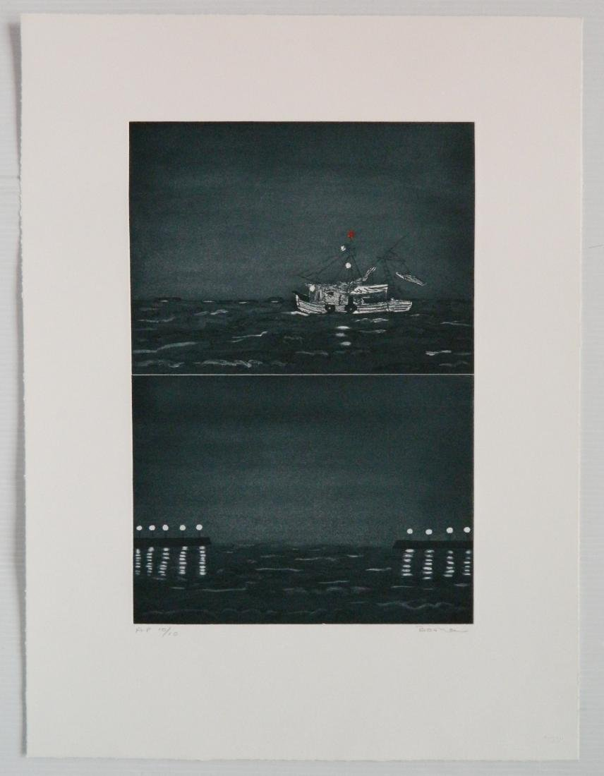 Richard Bosman etching - 2
