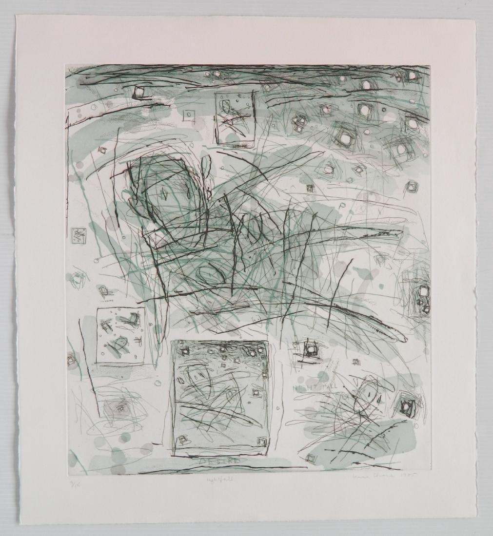 Louisa Chase etching - 2
