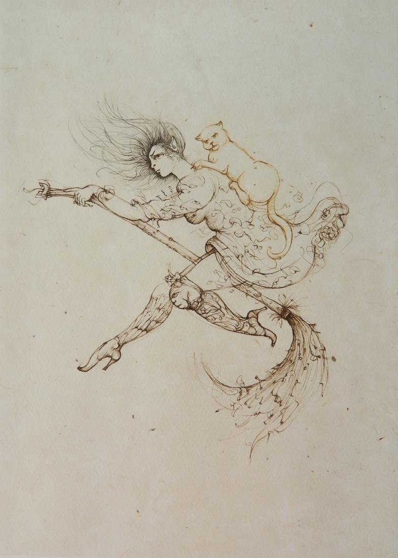 Leonro Fini etching