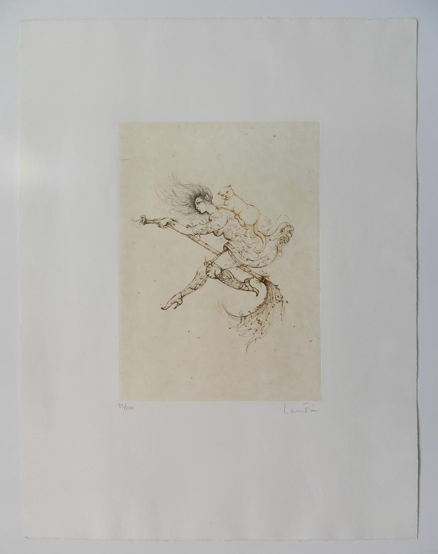 Leonro Fini etching - 2