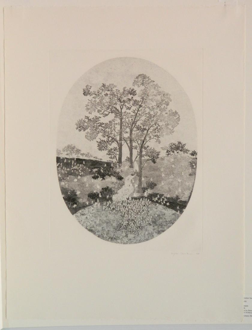 Claude Hermann etching - 2