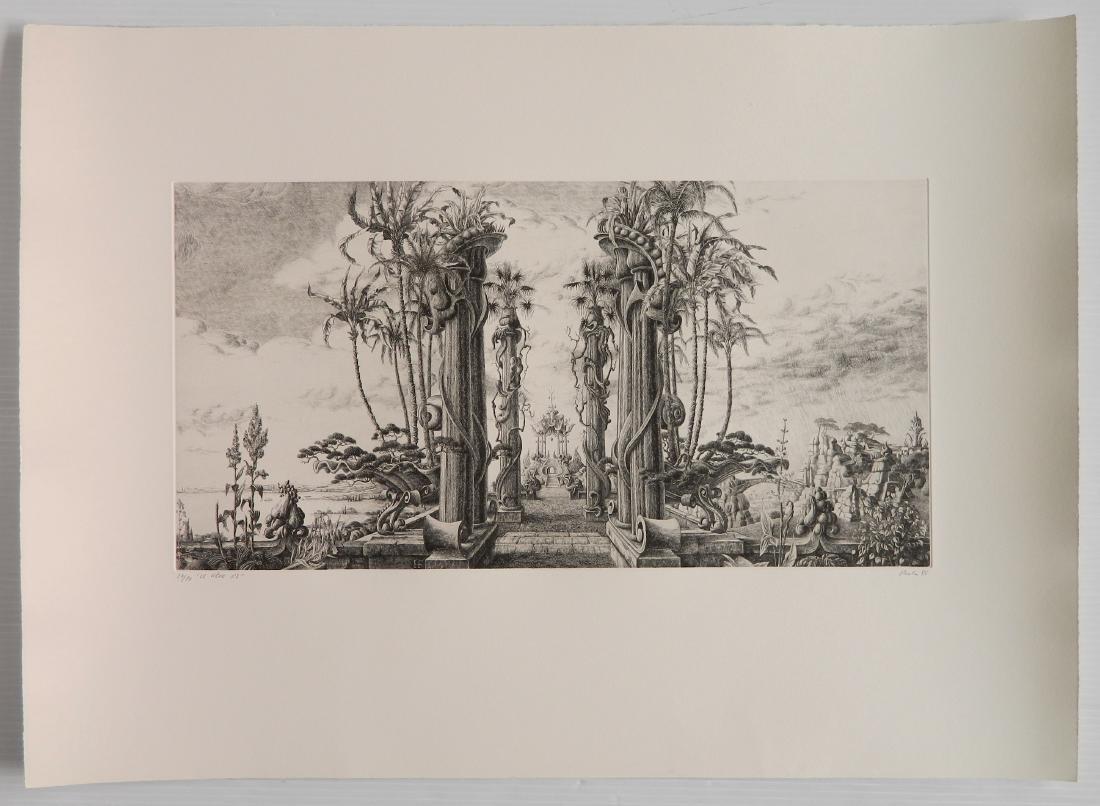 Francois Houtin etching - 2