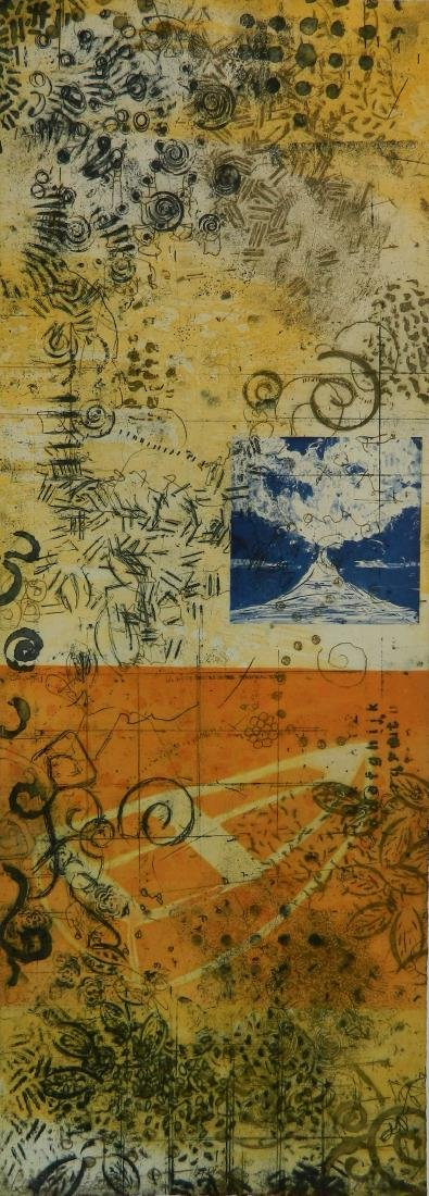 Cheryl Warrick etching in colors