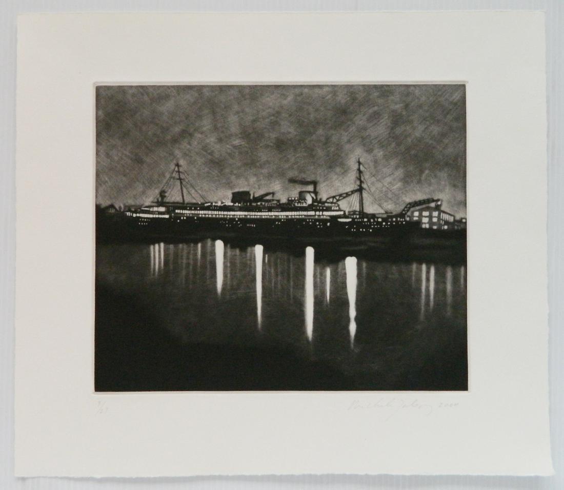 Michele Zalopany mezzotint - 2