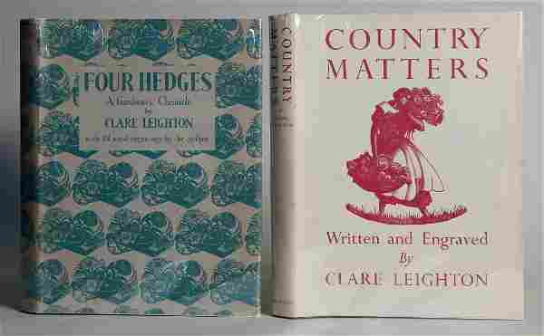 2 Books by Clare Leighton