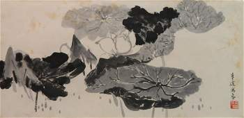 20th c Chinese School watercolor and ink