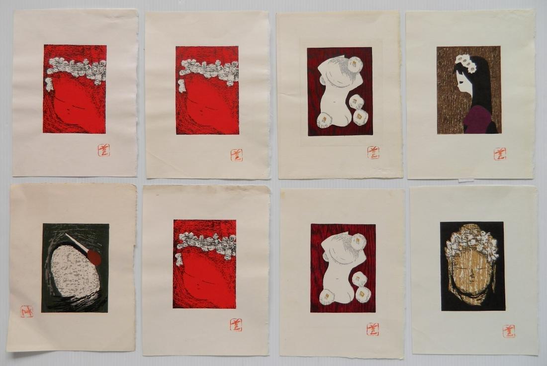 8 Kaoru Kawano woodblocks