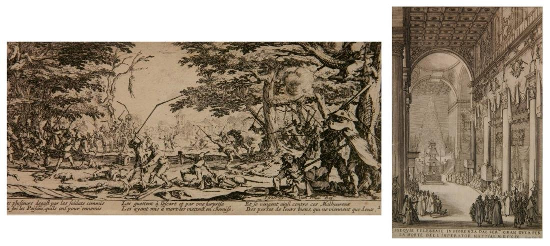 2 Jacques Callot etchings