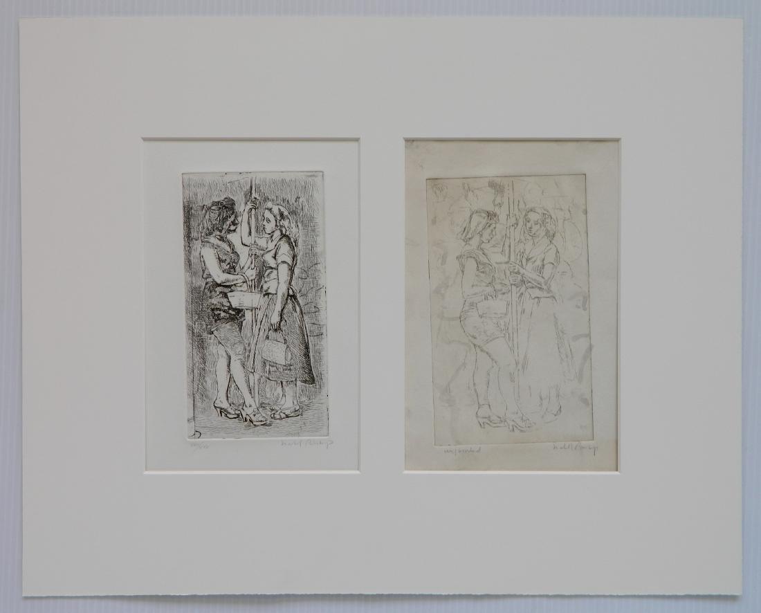 Isabel Bishop 2 etchings
