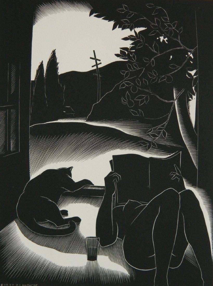 Paul Landacre wood engraving