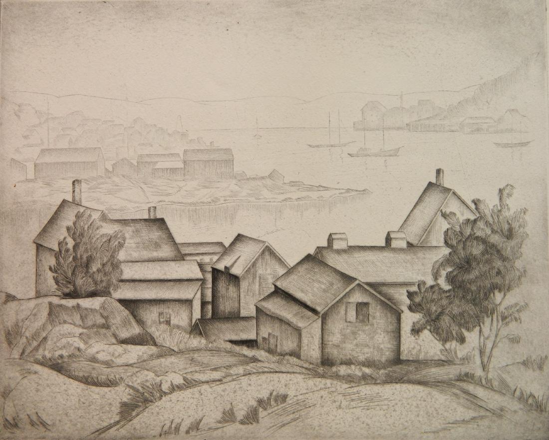 Joseph Raskin etching