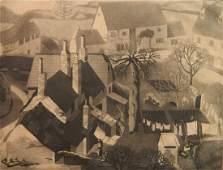 Jean Ulen etching and aquatint