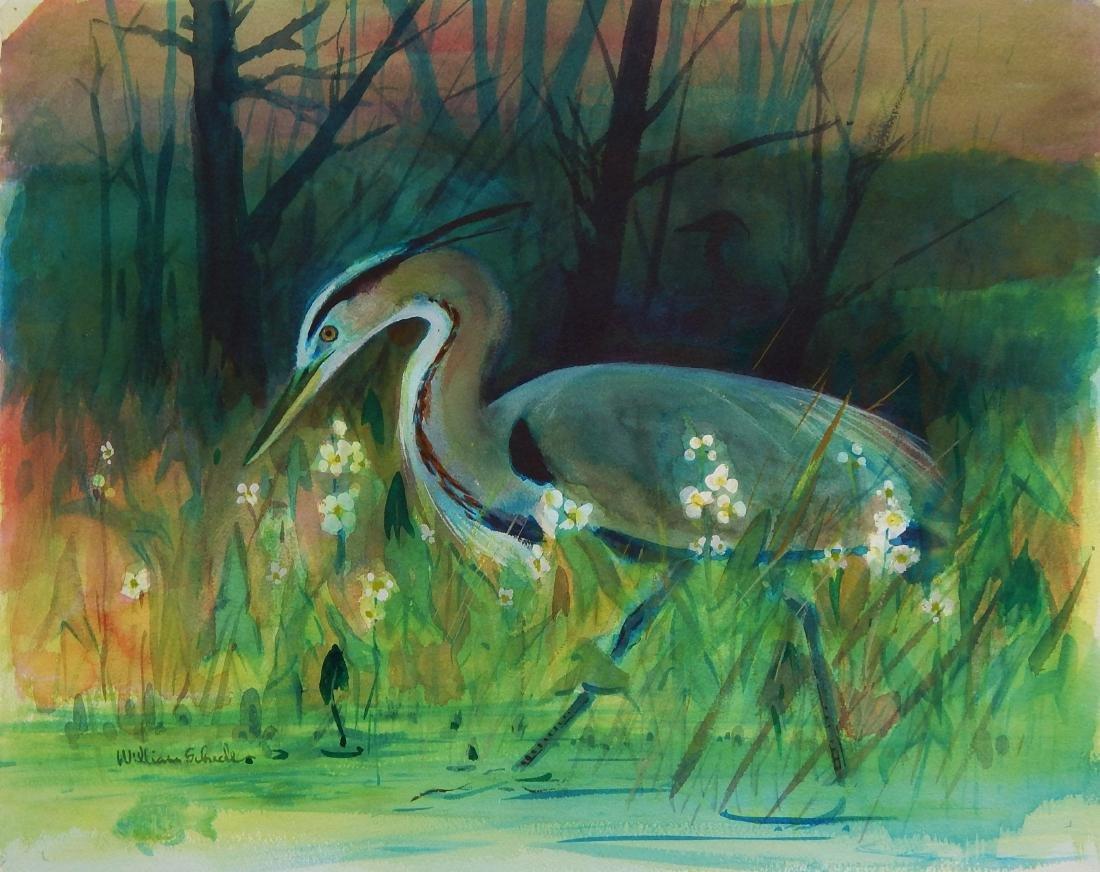 William E. Scheele watercolor