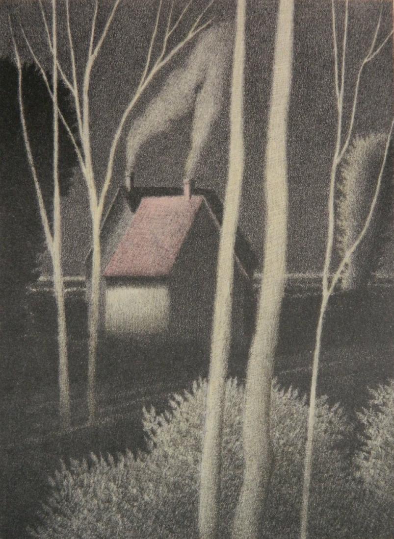 Robert Kipniss lithograph in color