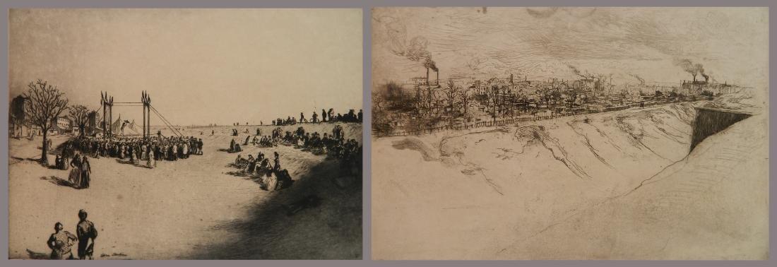 Edgar Chahine 2 etchings