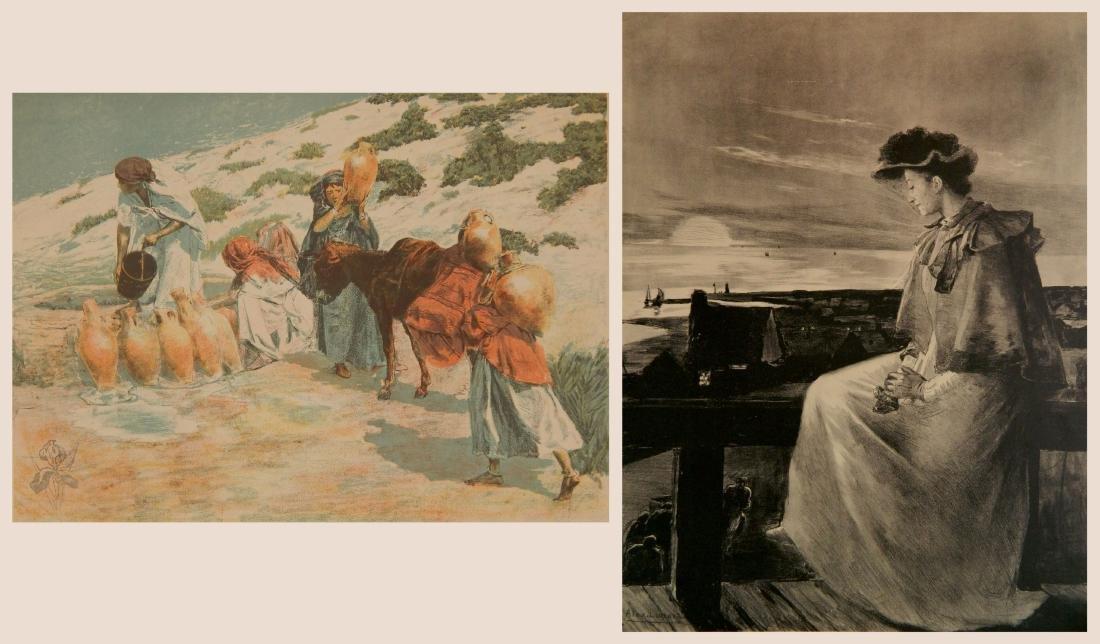 Alexandre Lunois 2 lithographs