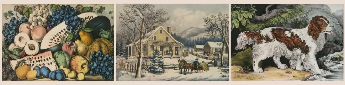 Currier and Ives 3 lithographs