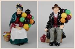 2 Royal Doulton porcelain figurines