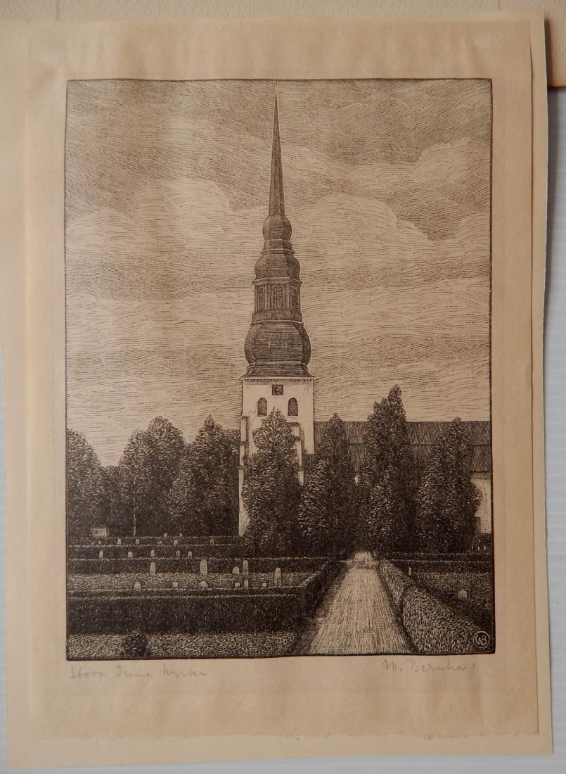 W. Bernhard wood engraving - 2