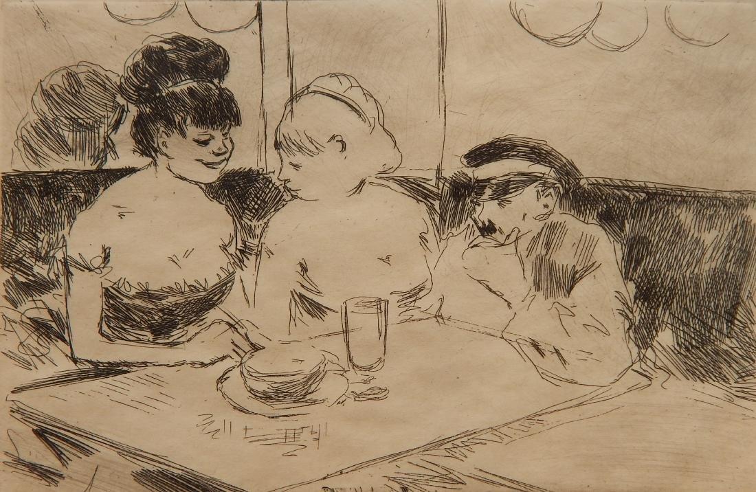 Jean-Louis Forain 2 etchings