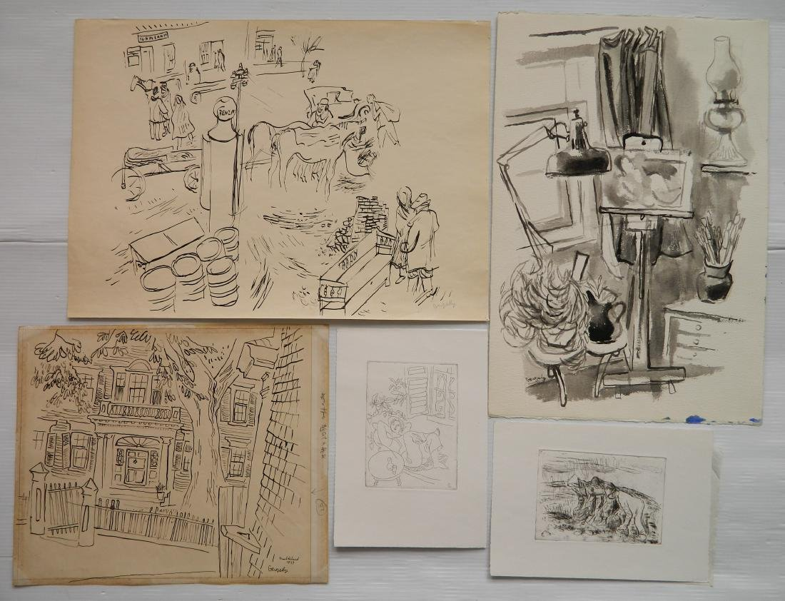 Tibor Gergely 5 works