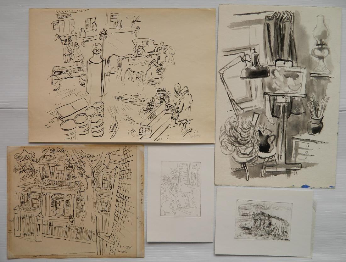 Tibor Gergely 5 works - 2