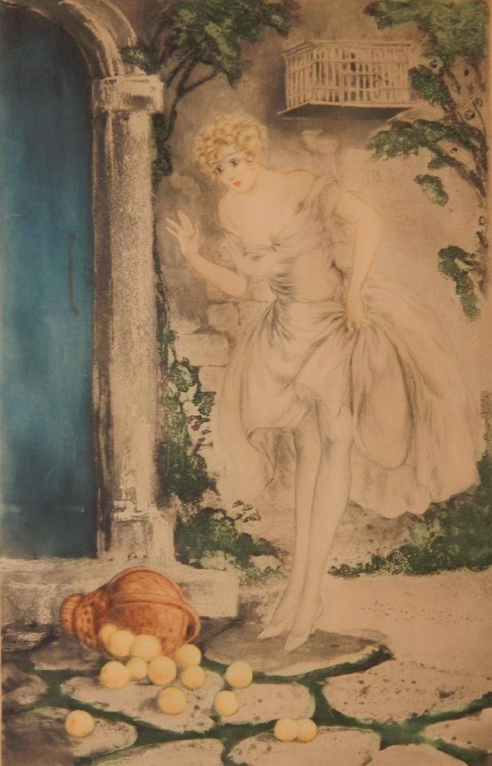 Louis Icart etching