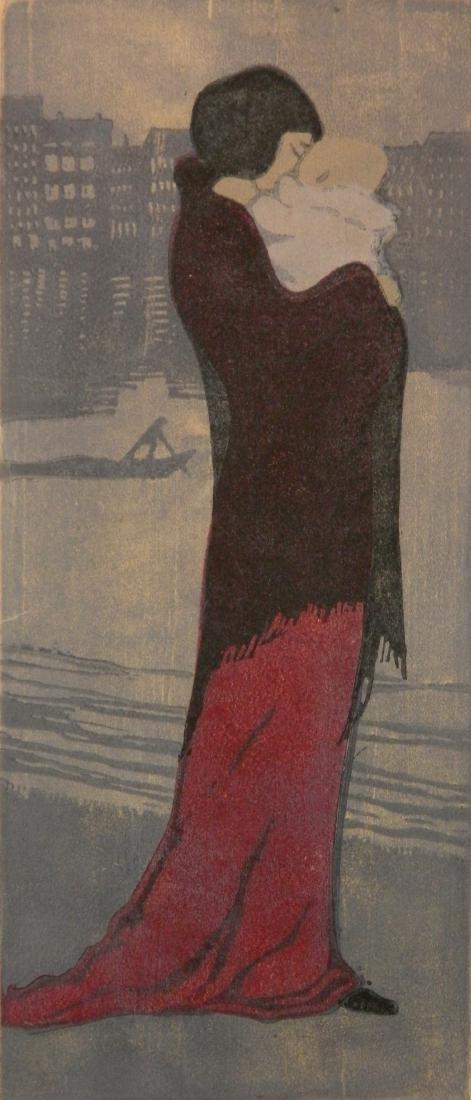Johanna Metzner woodblock